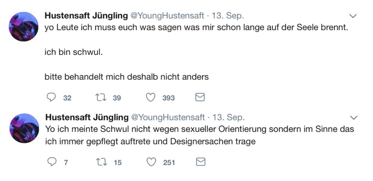 Hustensaft Jüngling via Twitter