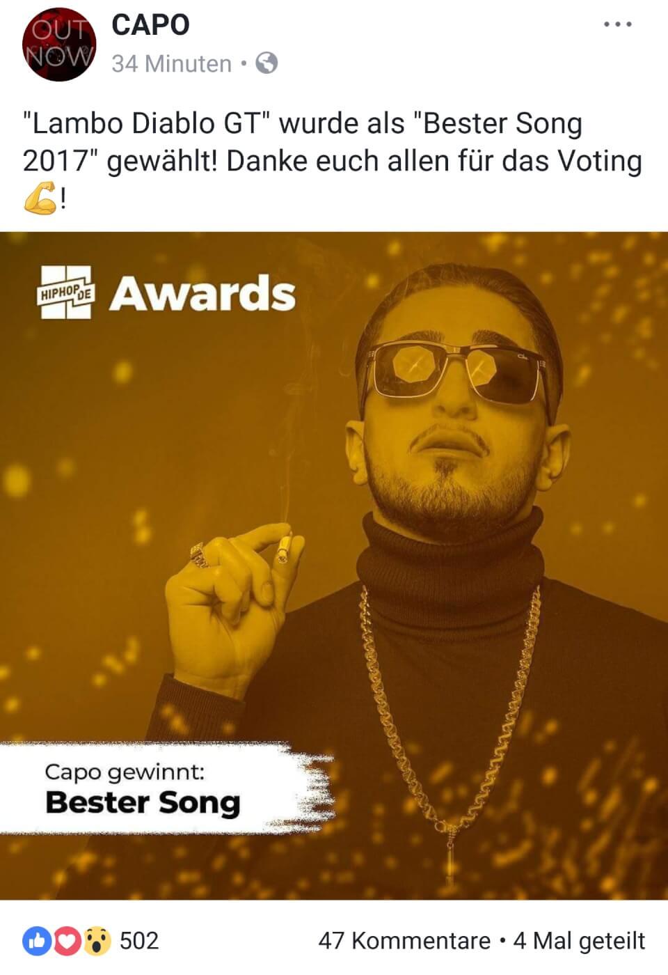 Lambo Diablo GT von Capo und Nimo zum besten Song 2017