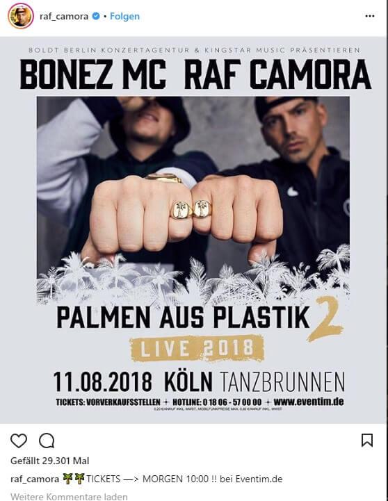 Bonez Und Raf Kündigen Palmen Aus Plasitik 2 An Raptastisch