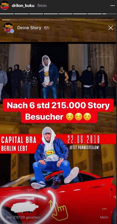 Tv Sender Sind Neidisch Capital Bra Zeigt Instagram Story Zahlen