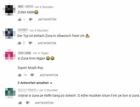 reaktionen auf das video