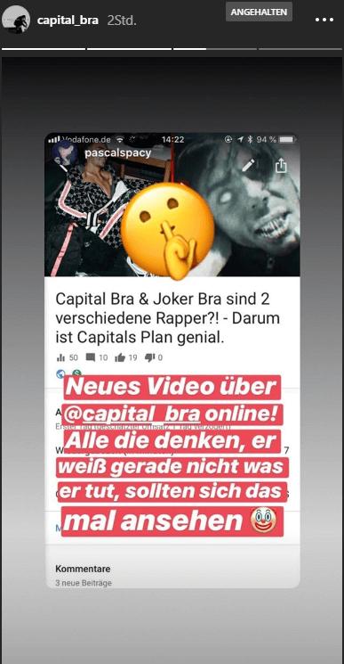 Capital Bra via Instagram Story
