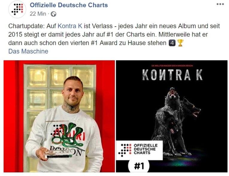 Offizielle Deutsche Charts via Facebook