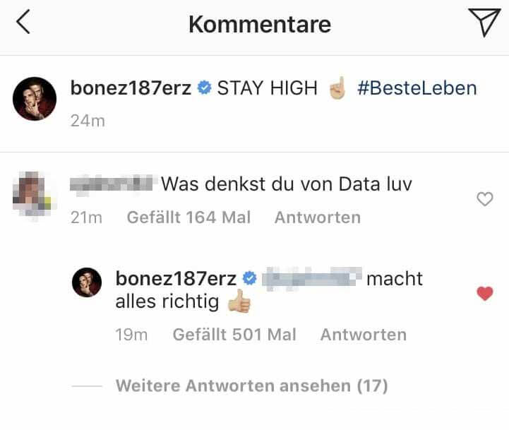 Bonez MC via Instagram über Data Luv
