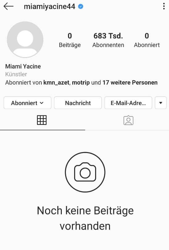 Miami Yacine - Instagram