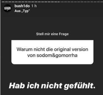 Bushido via Instagram 1