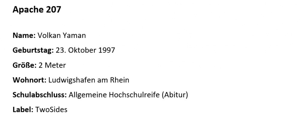 Steckbrief Alter Name Und Schulabschluss Von Apache 207