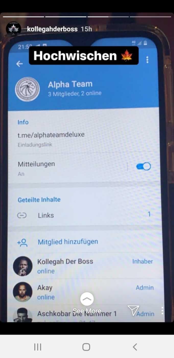 Kollegah telegram