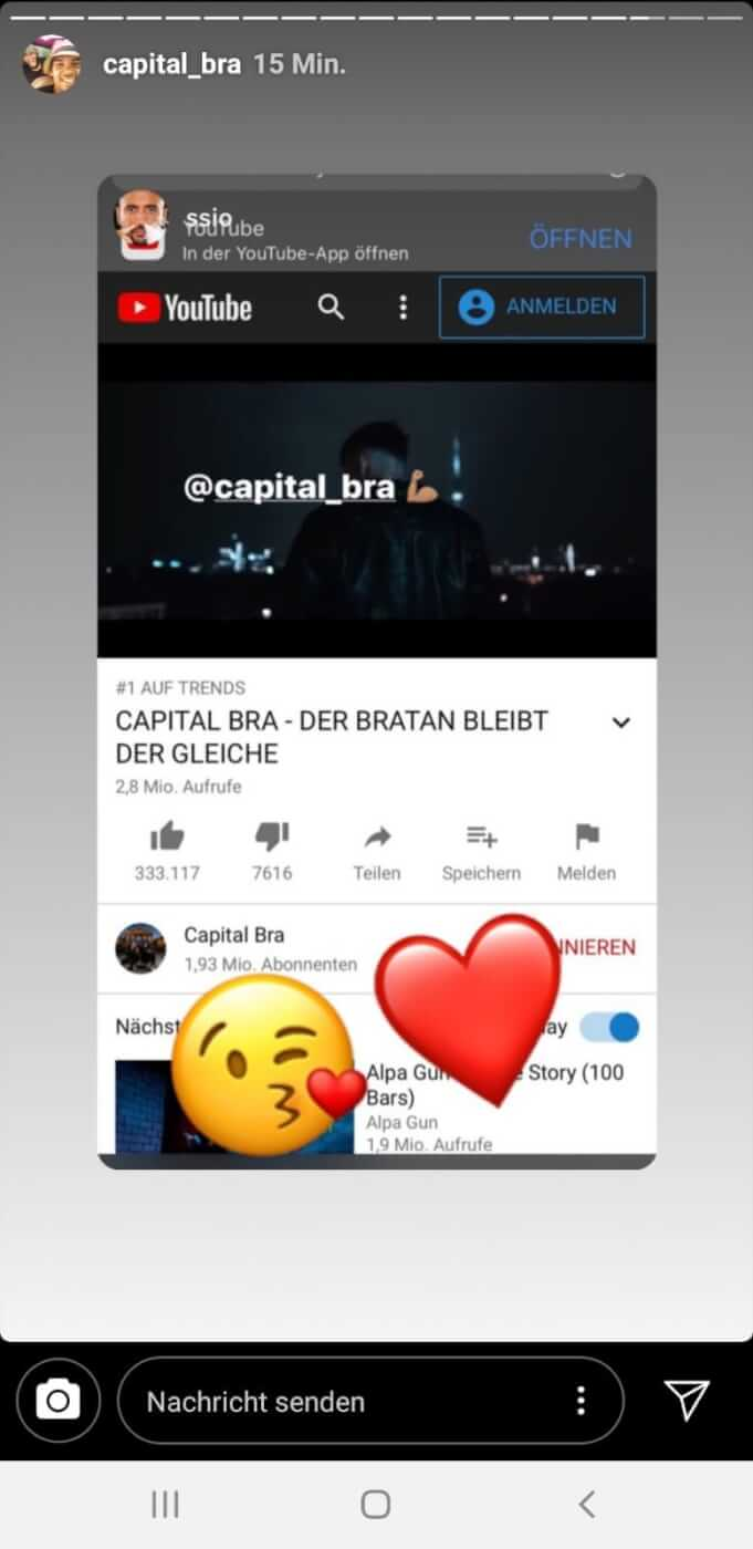 SSIO und Capital Bra via Instagram