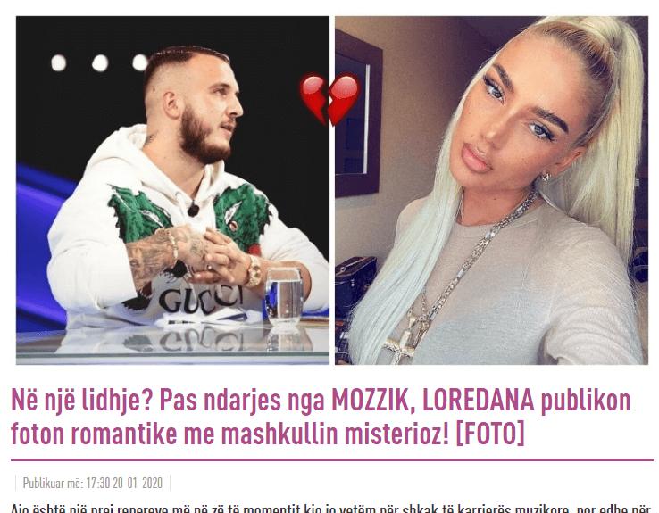 Albanischer Artikel von intv.al