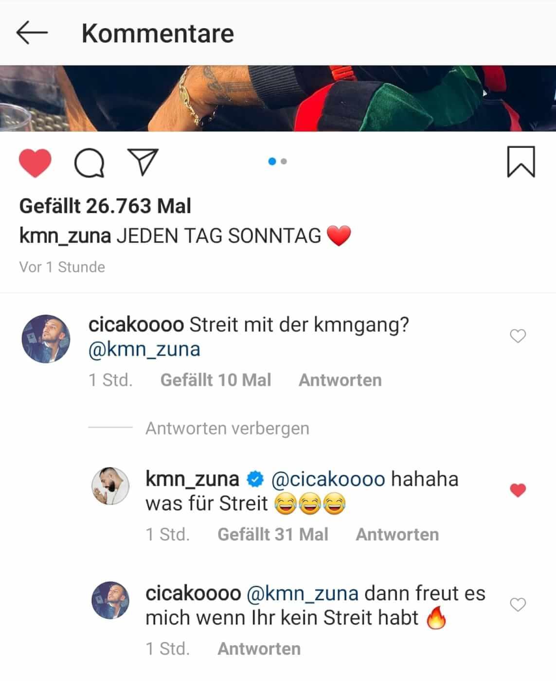 Zuna reagiert erstmals auf die Trennungs-Gerüchte