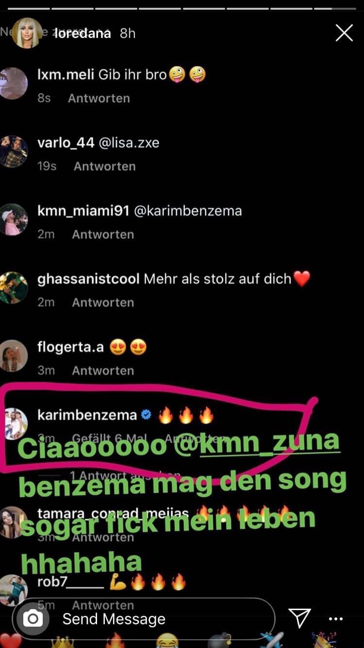 Karim Benzema schreibt direkt an Zuna