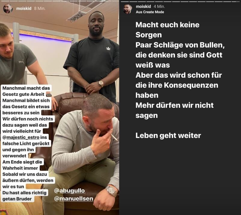 Mois mit Statement via Instagram-Story