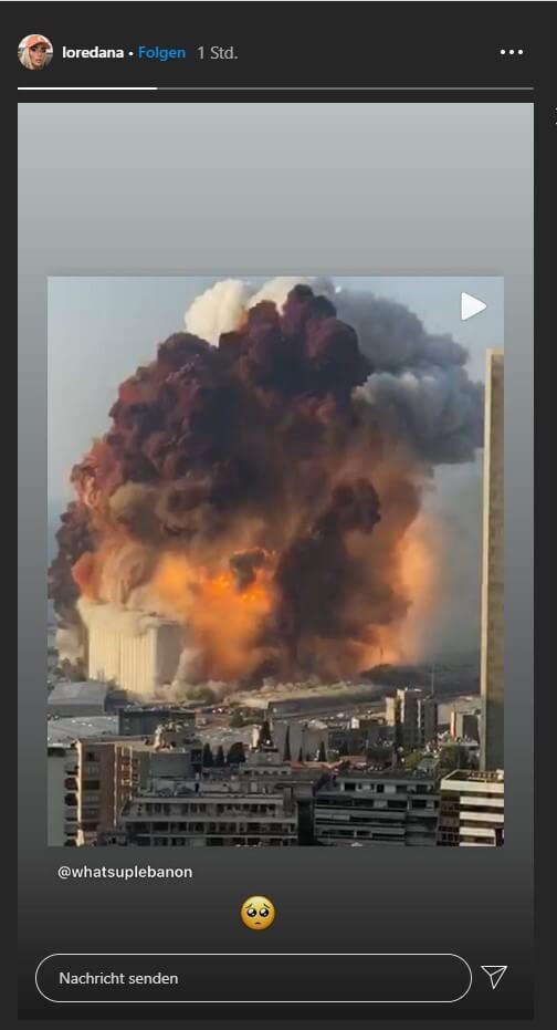 Loredana über die Explosion im Libanon