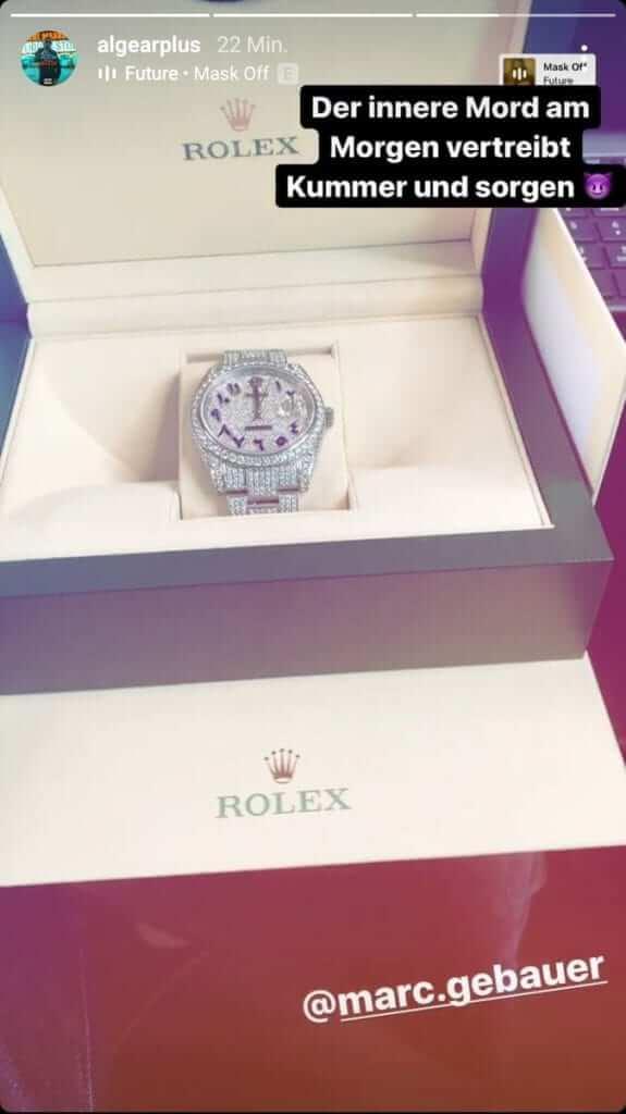Al-Gear zeigt seine neueste Rolex via Instagram Story