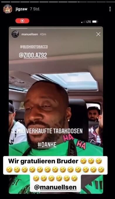 Jigzaw teilt via Instagram Manuellsens Story