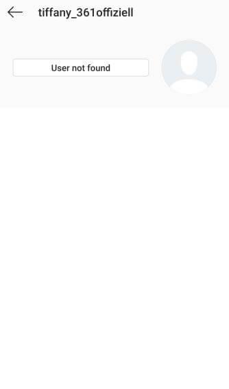 Tiffanys Account auf Instagram wurde entfernt