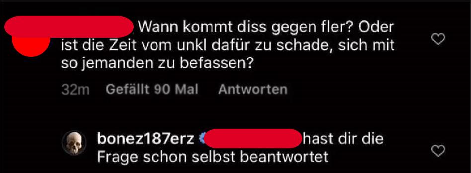 Kommentar von Bonez MC