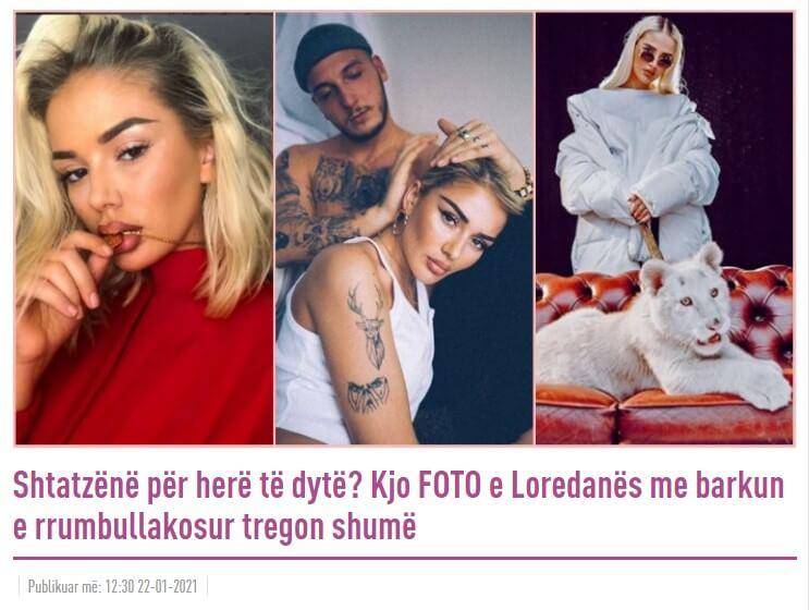 Albanische Medien berichten, Loredana sei wieder schwanger