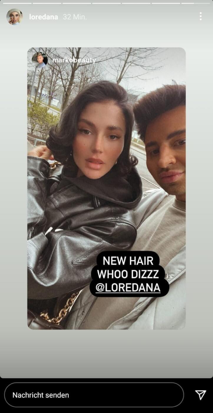 Loredana mit kurzen und lockigen Haaren