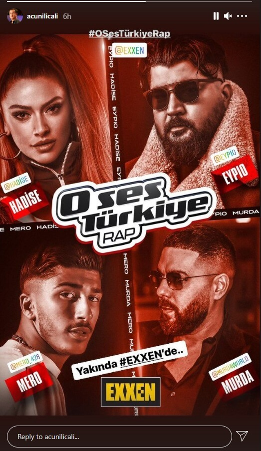 """Mero ist in der Jury von """"O Ses Türkiye - Rap"""""""