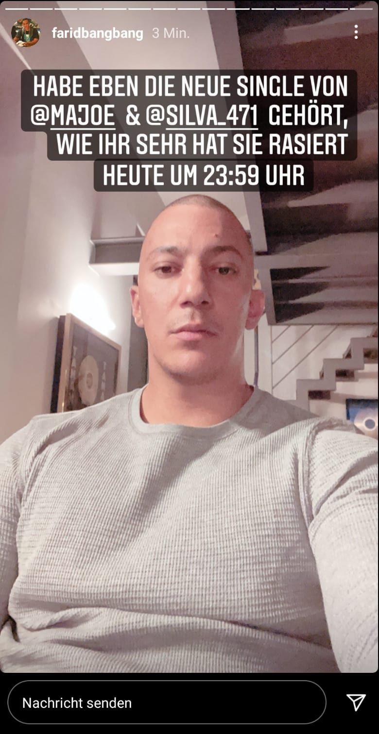 Farid Bang zeigt seine neue Frisur via Instagram Story