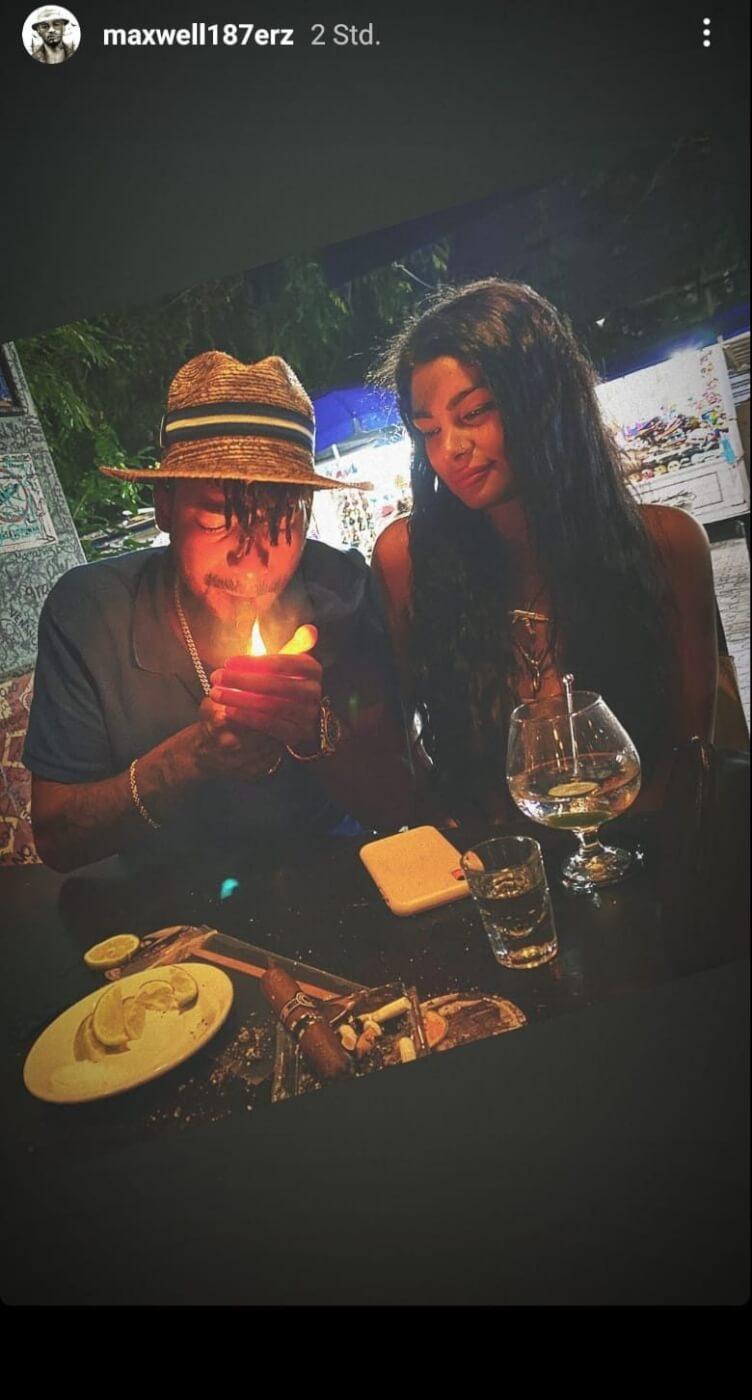 Maxwell mit seiner Freundin