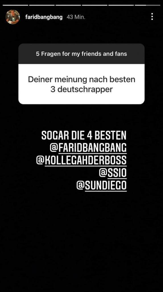 Farid Bang via Instagram Story