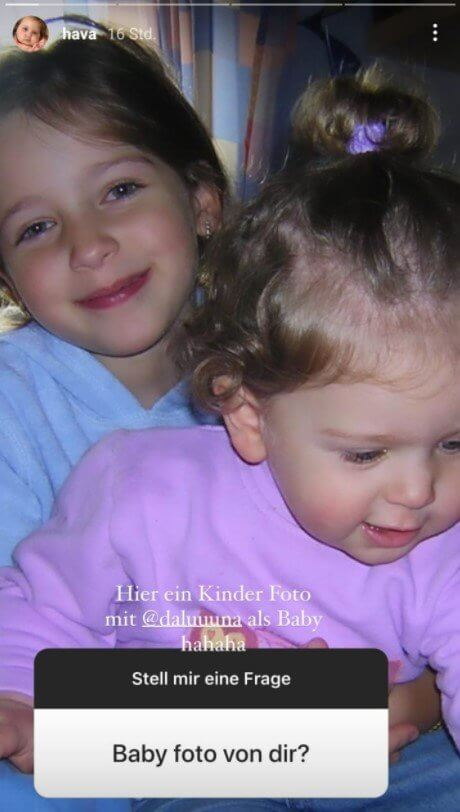 Hava veröffentlicht Kinderfoto von sich
