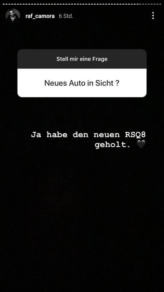 Raf Camora via Instagram Story