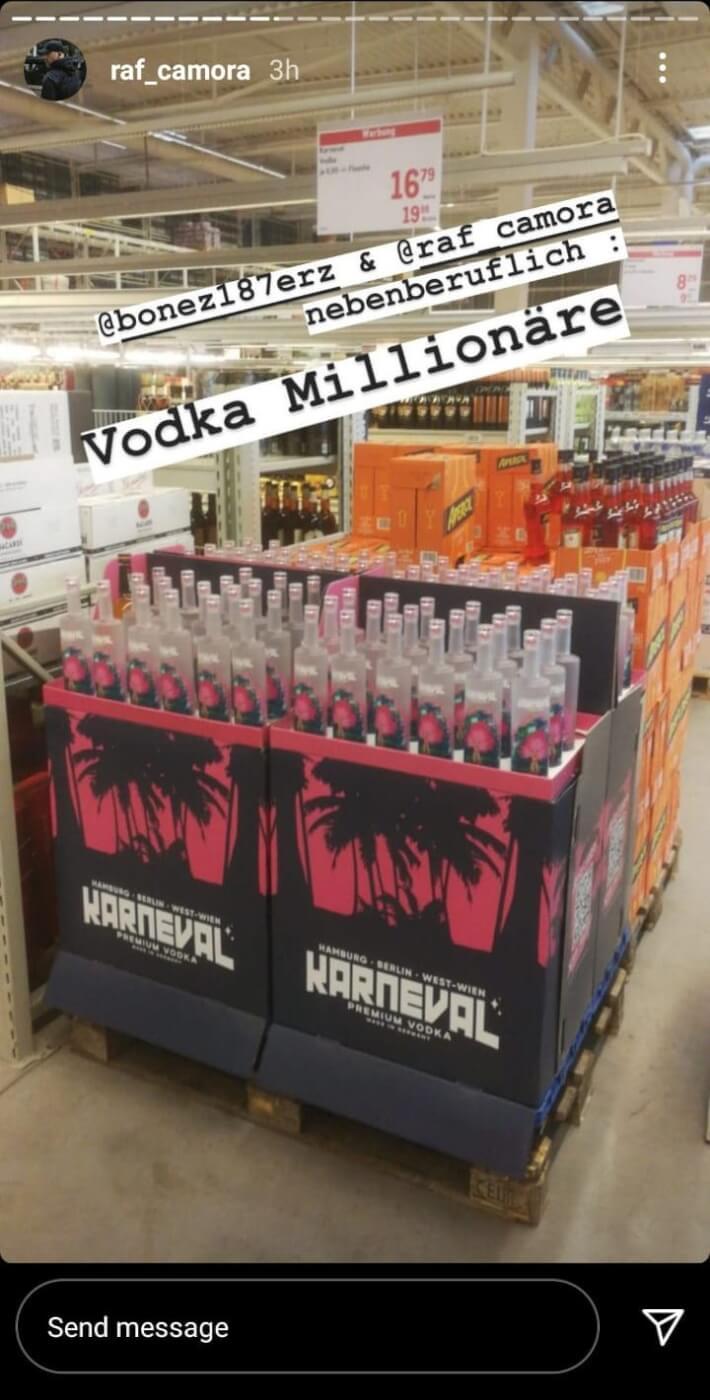 Raf Camora ist nebenberuflich ein Vodka-Millionär