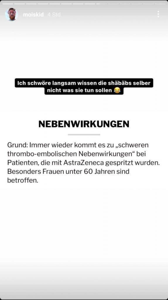 Mois via Instagram Story