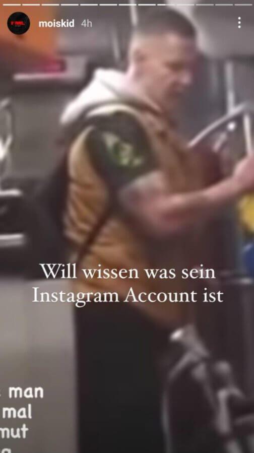 Mois sucht den Angreifer via Instagram Story