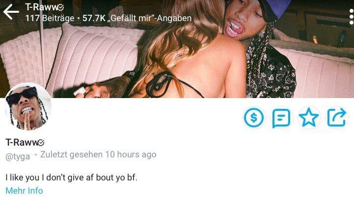 OnlyFans Profil von US-Rapper Tyga